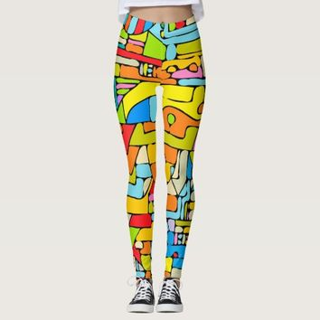 puzzle of colors in leggings