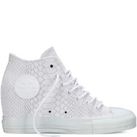 Converse Chuck Taylor All Star Lux Embossed Reptile White Mid