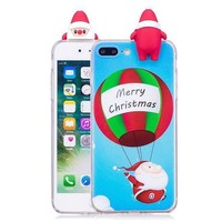 DCCKV2S GBSELL Xmas Squishy 3D Santa Claus Deer Case Cover for iPhone 8/7 Plus 5.5