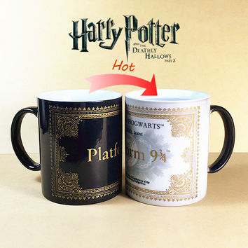 The new Harry Potter color cup 34 cups of coffee mug live map