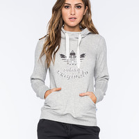 Adidas Originals La Slim Womens Hoodie Heather Grey  In Sizes
