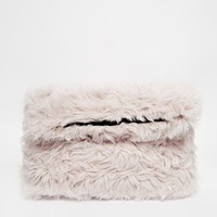 ASOS Faux Fur Cuddle Clutch Bag