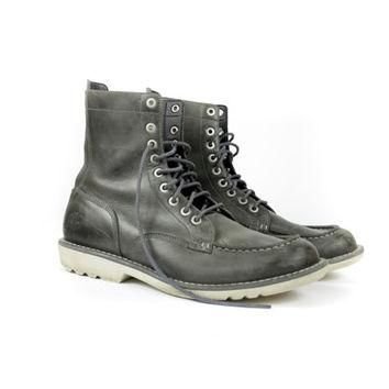 NEW Timberland Earth Keepers grey lace up boots / anti fatigue 6 inch combat hiking bo
