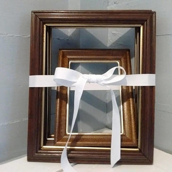 Vintage, Eclectic, Collection, 8x10, 5x7, Wood, Metal, Picture, Frames, Lot of Four