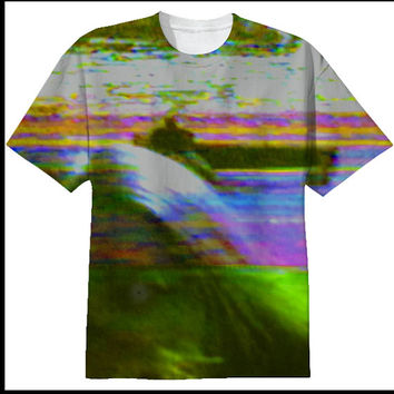 DREAMWHILE We Blow Your Mind 80s VHS Trippy Creepy Dark Colorful Glitch Surreal T-Shirt