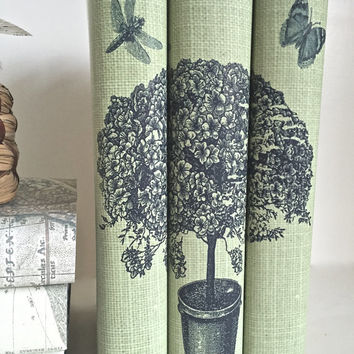 Tree Decorative Books with Custom Book Covers - Decorative Tree Book Set - Interior Design Books - Custom book jackets - Custom Books