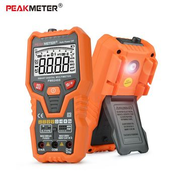 PEAKMETER PM8248S digital multimeter clamp for multimeters capacitance meter transistor tester