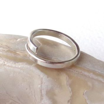 Toe,Knuckle,Midi Open Band Ring  Plain or Hammered