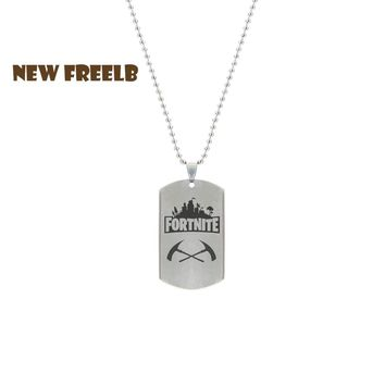 Hot Game Fortnite Battle Royale Weapon Necklace Stainless Steel Pendant Laser Printing Personalized Jewelry 4 Style High Quality