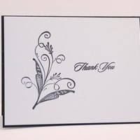 Elegant, Classic Floral Thank You Cards - Set of 10
