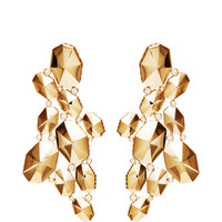 18K Rose Gold Large Dome Earrings With Diamonds by Octium - Moda Operandi