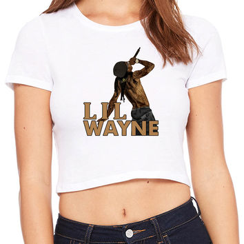 Lil Wayne Stand Up Show Crop T-shirt