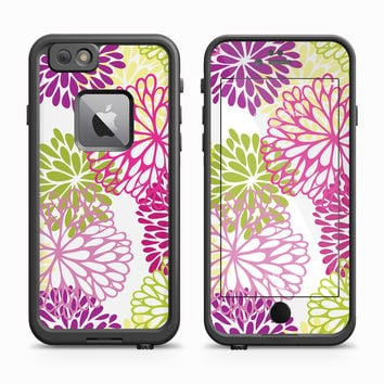 Gentle Flowers over White Skin for the Apple iPhone LifeProof Fre Case