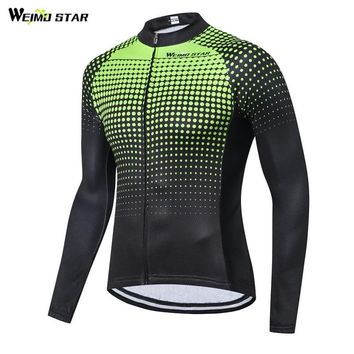 Werimostar 2018 Autumn Cycling Jersey Long Sleeve Men Mountain Bike Clothing Pro Team Racing Sport Bicycle Clothes Ropa Ciclismo