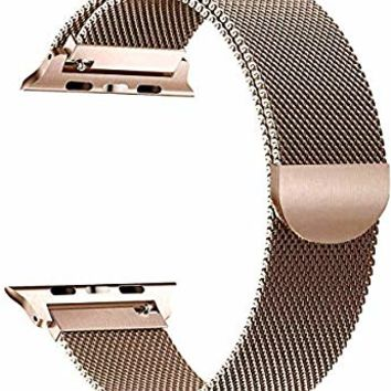 Tirnga Compatible with Apple Watch Band 42mm 38mm 44mm 40mm, iWatch Bands Milanese Loop for Series 4 3 2 1