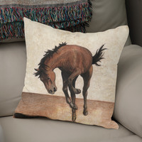 «Wild horse», Numbered Edition Coussin by Savousepate - From 25€ - Curioos