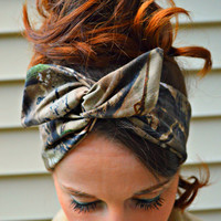 Real Tree Camo Dolly bow head band, hair bow