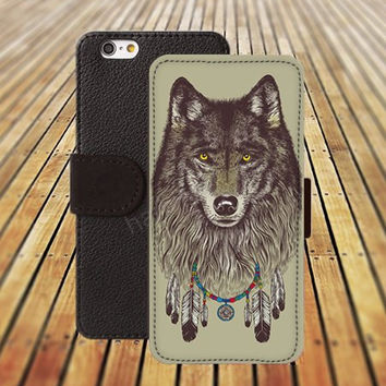 iphone 5 5s case wolf dream college iphone 4/4s iPhone 6 6 Plus iphone 5C Wallet Case,iPhone 5 Case,Cover,Cases colorful pattern L330