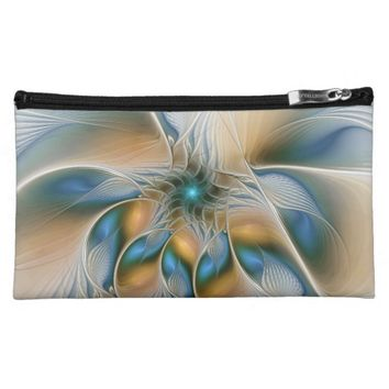 Soaring, Abstract Fantasy Fractal Art With Blue Makeup Bag