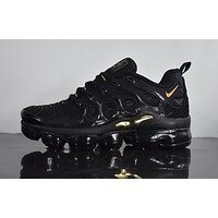 "2018 Nike Air Max Plus TN VM ""Black&Gold"" Vapormax Vapor Max Men Fashion Running Sneakers Sport Shoes"