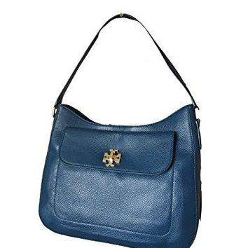 Tory Burch Tidal Wave Blue Mercer Slouchy Hobo Shoulder Bag