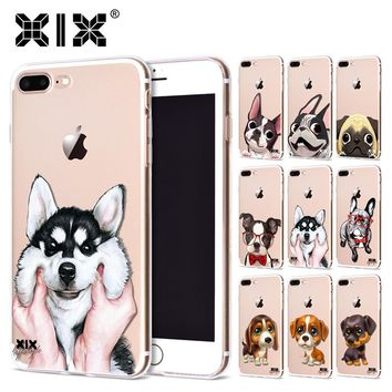 XIX 2017 new arrivals for funda iPhone 6S case 5 5S 6 6S 7 8 Plus X Cute Dogs thin soft silicone TPU cover for iPhone 7 case