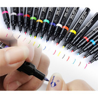 1pcs Nail Art Pen DIY Painting Design Tool Drawing For UV Gel Polish Manicure 16 Colors Free Shipping