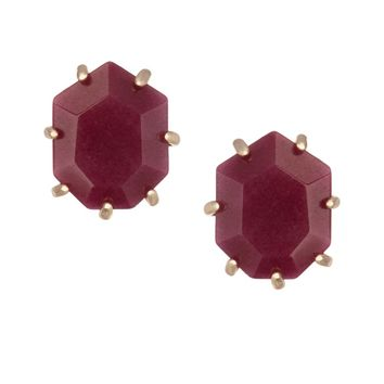 Morgan Stud Earrings in Maroon Jade - Kendra Scott Jewelry