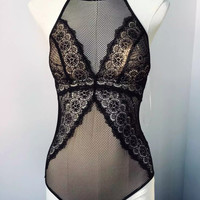 Slim One-piece Ladies Hollow Out Lace Underwear [8678846413]