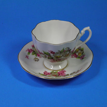 Vintage English Fine Bone China Cup and Saucer