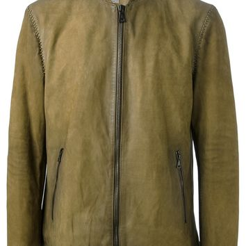 John Varvatos Distressed Harrington Jacket