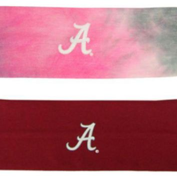 DCCKG8Q NCAA Alabama Crimson Tide Top of The World 2 Pack Yoga Headband