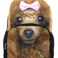 Pretty Poodle in Pink Backpack