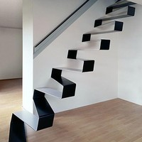 Suspended Solid Steel Staircase Seems to Float on Air | Designs & Ideas on Dornob