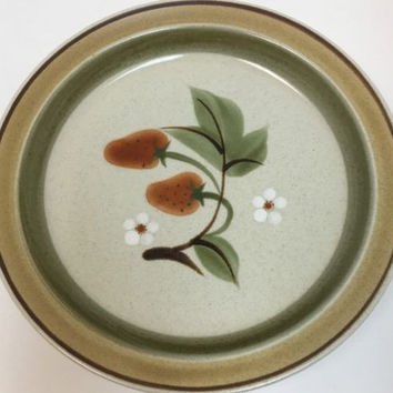 Mikasa PottersKraft Wild Strawberry Hallkraft Stoneware Japan 4 Pc Dinner Plates