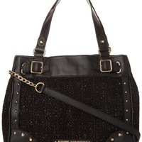 Juicy Couture Mar Vista Tweed Collection Daydreamer YHRU3720 Shoulder Bag,Black,One Size
