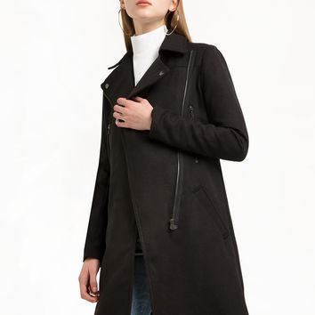 Black Long Biker Jacket