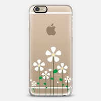 White Spring Flowers Transparent iPhone 6 case by Organic Saturation | Casetify