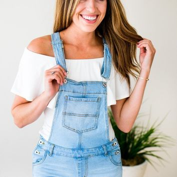 Overall We're Obsessed Light Wash Overalls