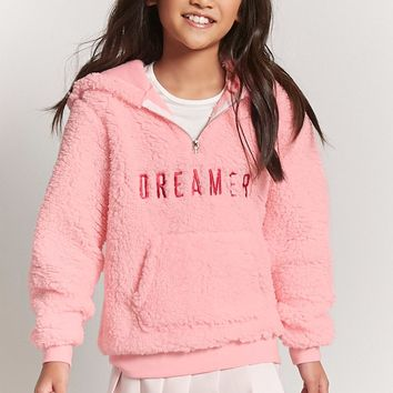 Girls Embroidered Fleece Hoodie (Kids)