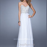 Strapless Sweetheart La Femme Formal Prom Gown 20888