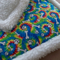 Sherpa&Cotton Pet Pad -Soft dog crate pad - Durable dog mat - Dog bed - Cozy dog crate mat  -Dog bedding -COLOR SWIRL cotton