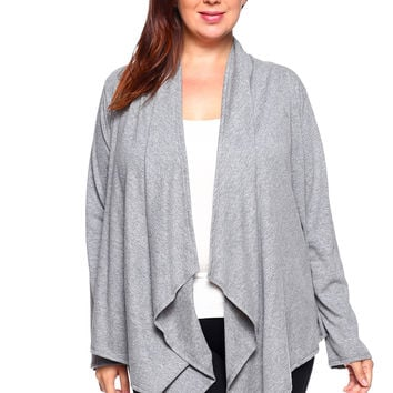 Women's Open Drape Front Cardigan