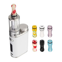 Electronic Cigarette Acrylic Tips Colorful Drip Mouth 510 Tip Drip Mouthpiece For Atomizer E cig Accessories