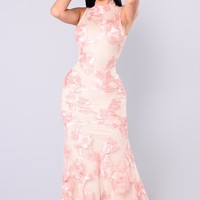 Regatta Gala Maxi Dress - Blush