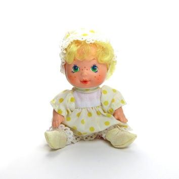 Lemon Meringue Berry Baby Doll Vintage 1980's Strawberry Shortcake Drink & Wet Toy