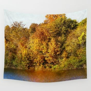 Autumn Blaze Wall Tapestry by Theresa Campbell D'August Art