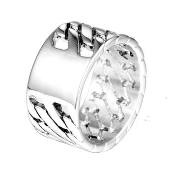 Men Women Ring Silver Stainless Steel Punk Biker Men Charm Wedding Band Jewelry Bicycle Rings Jewelry VR169