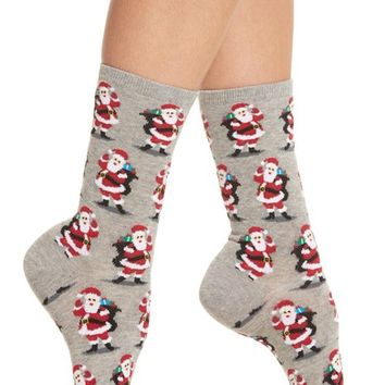 Hot Sox Santa with Presents Crew Socks (3 for $15) | Nordstrom