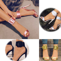 Ankle Strap High Heeled Women's satin Shoes 7 Colors Sizes 4-12